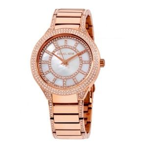 Michael more Kerry rose gold mother of pearl watch